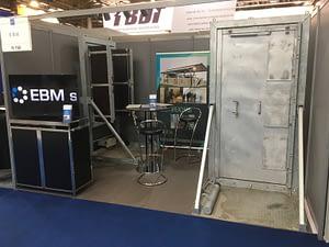 Stand EBM foire Milipol Presentation portes